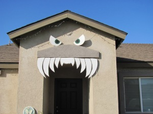finished monster teeth/face up on house.