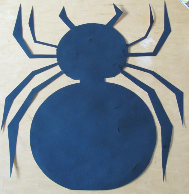 Finished painting the spider, now to hang it up.